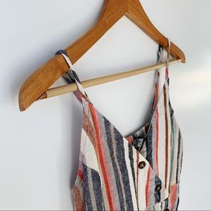 FOR JUSTIFY linen striped top/dress size L